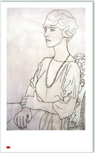 Madame Errazuriz, por Picasso