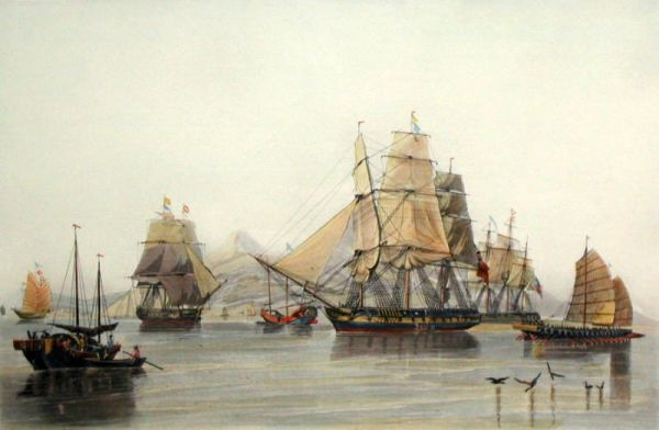 Old Fashioned European Ships