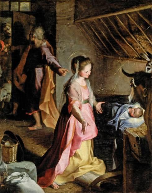 Nacimiento de Jesús. Federico Barocci, 1597  -  Museo del Prado. Madrid