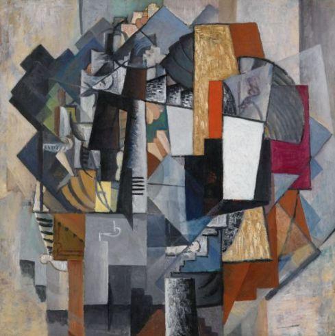 """Kazimir Malévich, """"Escritorio y habitación"""" 1913"""