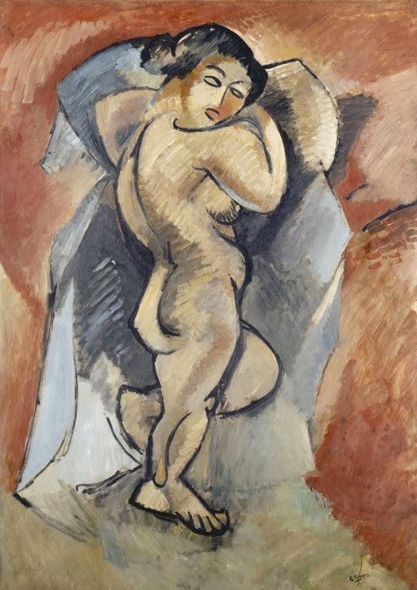 """Gran desnudo"""" de Braque, una de las obras expuestas en el Guggenheim de Bilbao. EFE/Alfredo Aldai"""